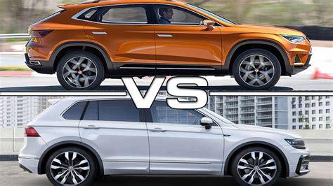 seat ateca vs tiguan 2017 seat ateca vs 2017 volkswagen tiguan youtube