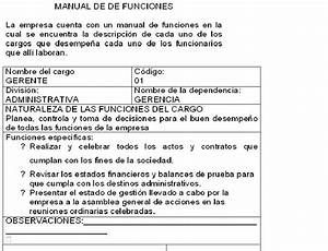 Manual De Funciones Del Jefe De Produccion