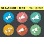 Vector Megaphone Icons Boss Illustration Shouting Employee