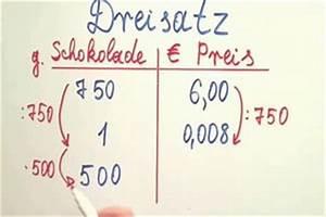 Dreisatz Berechnen : video dreisatz erkl ren die rechenart einfach vermittelt ~ Themetempest.com Abrechnung