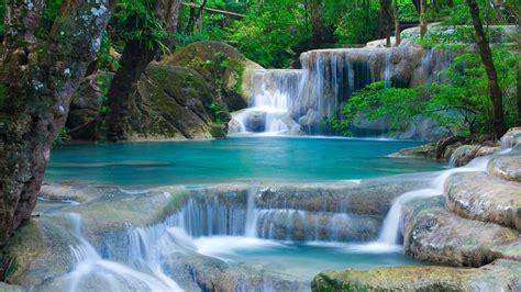 thailand waterfalls  beauty  nature landscape hd