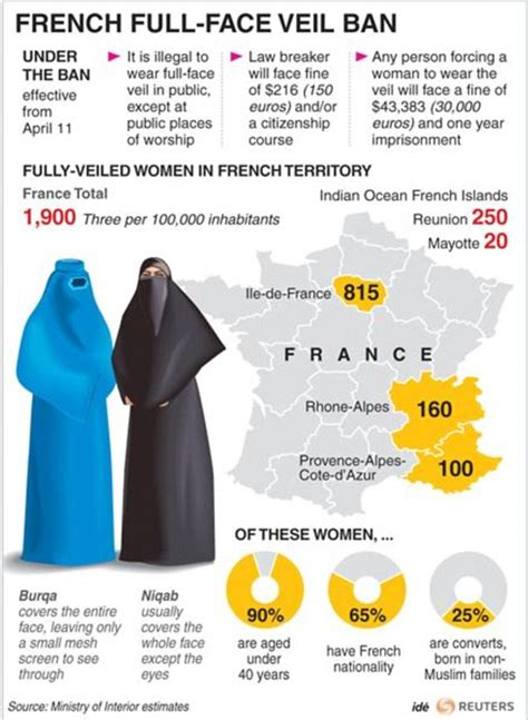 france burka ban  arrested  paris protest daily