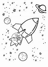 Planets Coloring Rocket Planet Drawing Pages Solar System Cosmos Space Printable Ship Drawings Printables рисунки Adults космос для на тему sketch template