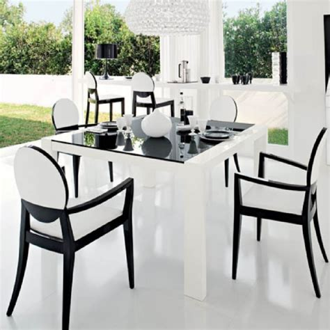 white dining room sets gen4congress black and white chairs decor ideas the home redesign
