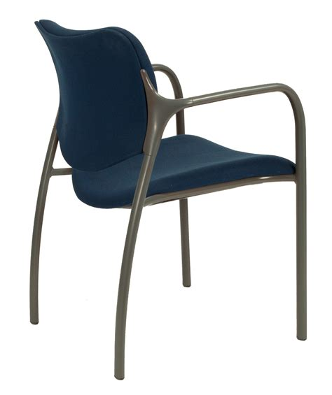 herman miller used aside stacking chair blue national