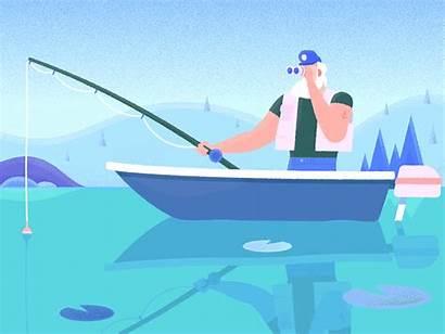 Outdoors Fishing Animated Series Short Dribbble Celebrating