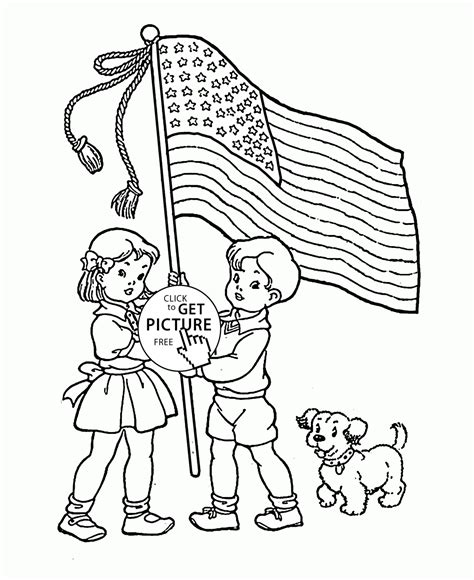 36 Flag Day Coloring Pages Printable Free American Flag