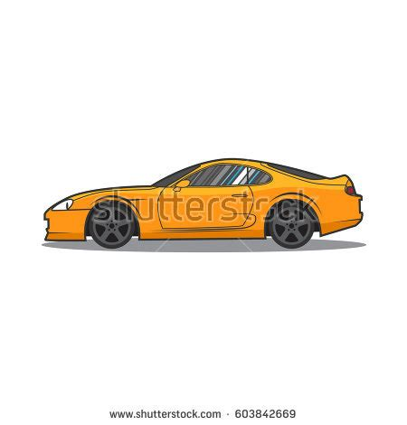 cartoon sports car side view car illustration stock vector 603131630 shutterstock