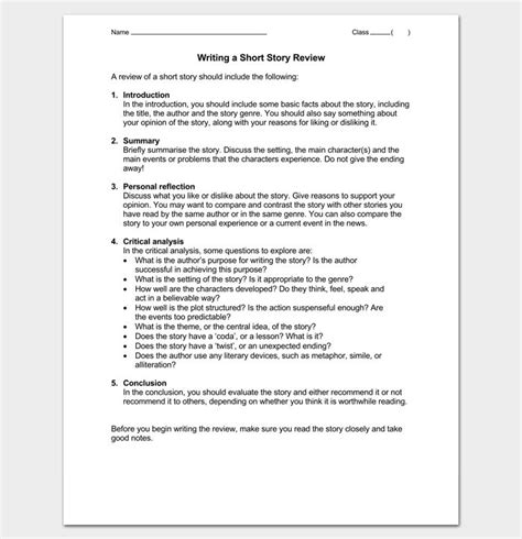 writing short story review outline writing short stories