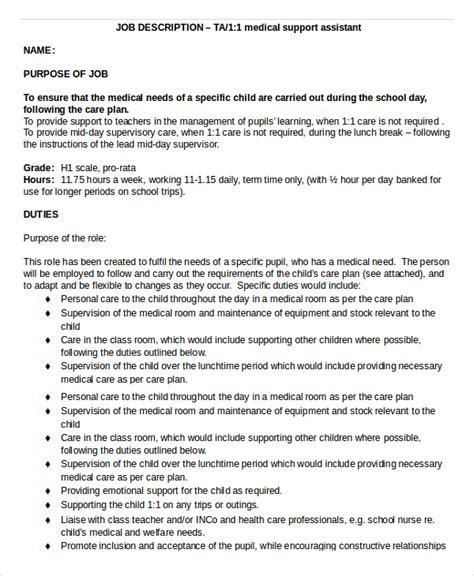 medical assistant job description templates