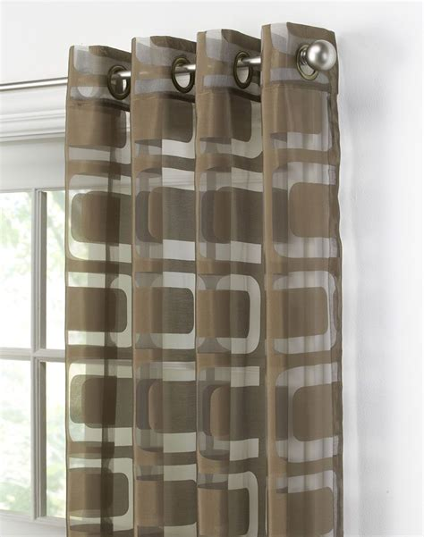 awesome geometric sheer curtain   privacy