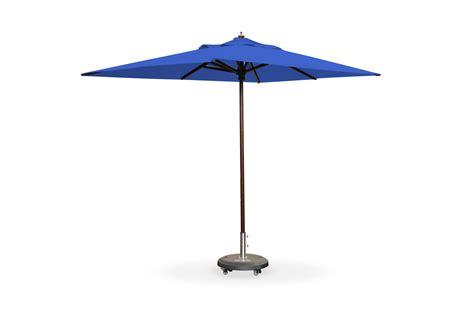 2m x 3m rectangular wooden umbrella royal blue patio