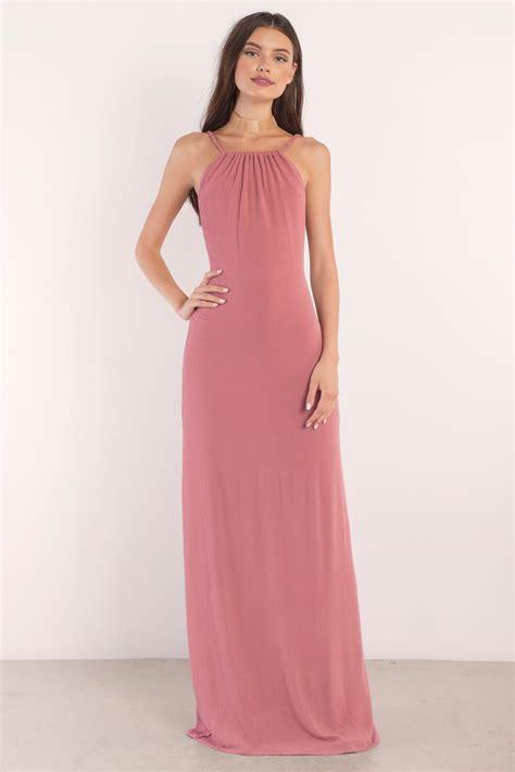 Terracotta Maxi Dress - Backless Dress - Orange Dress