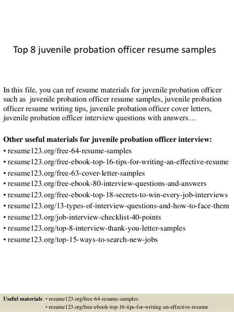 top  juvenile probation officer resume samples