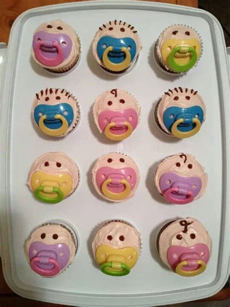 baby shower cupcakes with pacifiers the best collection of baby shower ideas the whoot