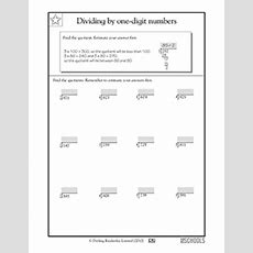 4th Grade Math Worksheets Dividing And Finding Remainders, 3digit Numbers Greatschools