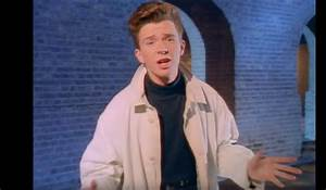 Screen capture from the music video for Rick Astley's hit ...