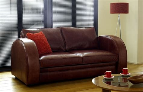 leather bed settee astoria deco sofa bed chesterfield company