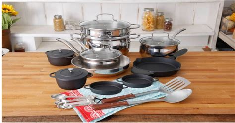 pioneer woman copper charm  piece cookware combo set   shipped reg