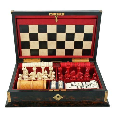 antique games box victorian games compendium