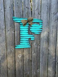 corrugated metal letter f g or h 18 tall by ashermetalart With corrugated plastic yard letters