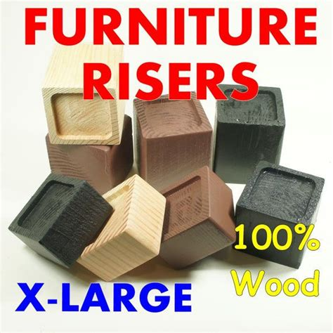 Wide Bed Risers by X Large Wood Furniture Riser Bed Sofa Chair Desk Lifter