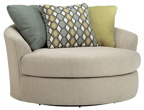 casheral linen oversized swivel accent chair from