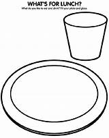 Coloring Pages Plate Lunch Colouring Dinner Drawing Healthy Crayola Glass Eat Eating Sheets Drink Draw Crafts Fill Crayons Getdrawings Lunches sketch template