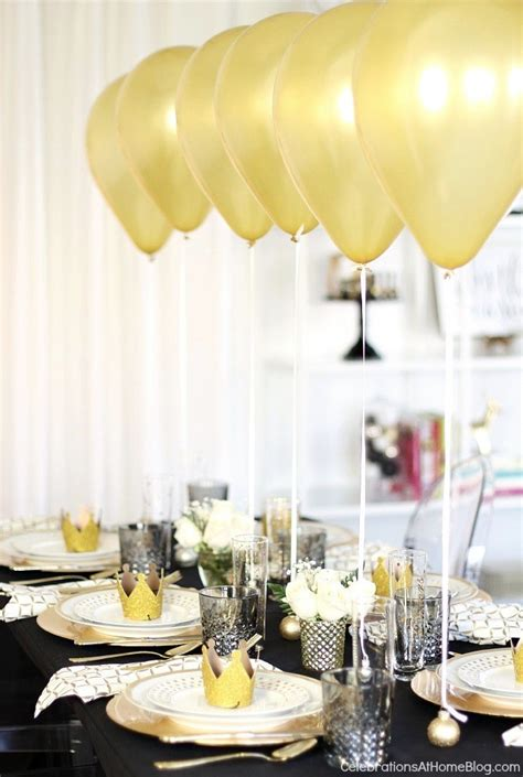 dinner table decorations for dinner parties holiday table setting with balloons centerpiece dinner