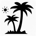 Coconut Icon Palm Trees Tree Vacation Navigation