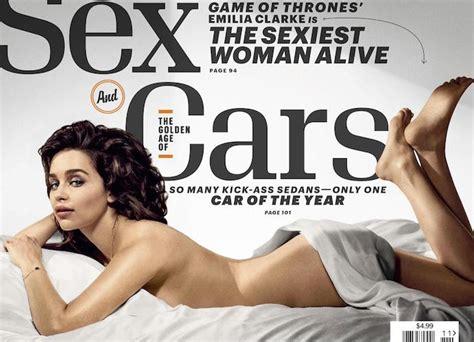 Emilia Clarke 'game Of Thrones Star Named 'esquires