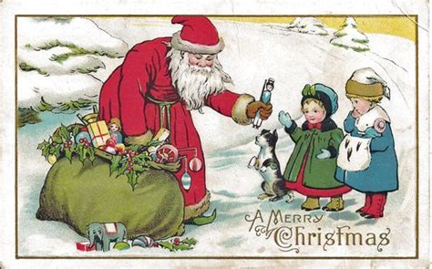 Santa Postcard Giving Toys To From Antique Santa Postcard Giving Toys To From Antique