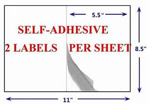 Review of generic half sheet self adhesive shipping labels for Half page shipping labels