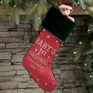 Baby, U0026, 39, S, First, Christmas, Personalized, Christmas, Stocking