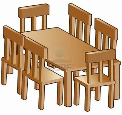 Clipart Dining Table Clip Furniture Dinner Cliparts