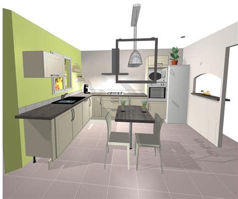 plan cuisine ouverte plan de cuisine ouverte cuisine ouverte et lot central