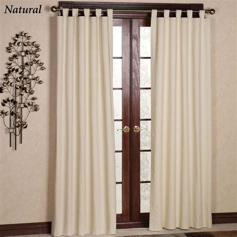 Tab Drapes - weathermate solid thermalogic tm tab top curtains