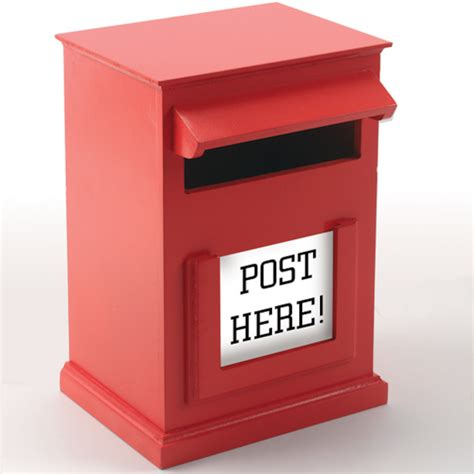 Post Box Buy Red Post Box H31 X W20cm Tts