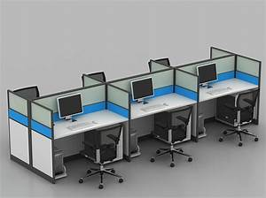 Space-saving Dual Linear Cubicles Modern Partition Office Workstation