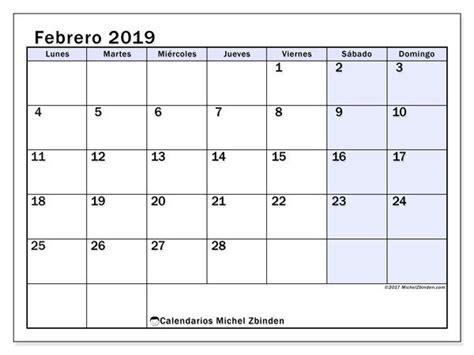calendario febrero  ld calendario enero