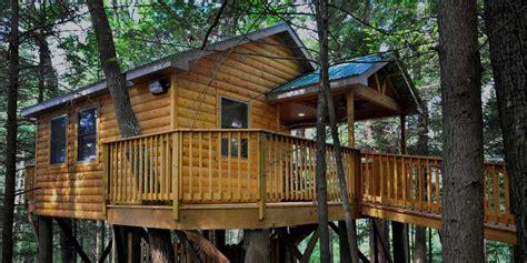 wvs wild wonderful treehouse  cabins  pine haven