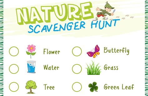 nature scavenger hunt  printable stay  home mum