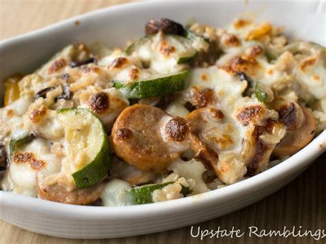 zucchini sausage casserole sausage mushroom zucchini casserole recipe upstate ramblings