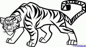 Simple Drawing Of Tiger - Drawing Of Sketch