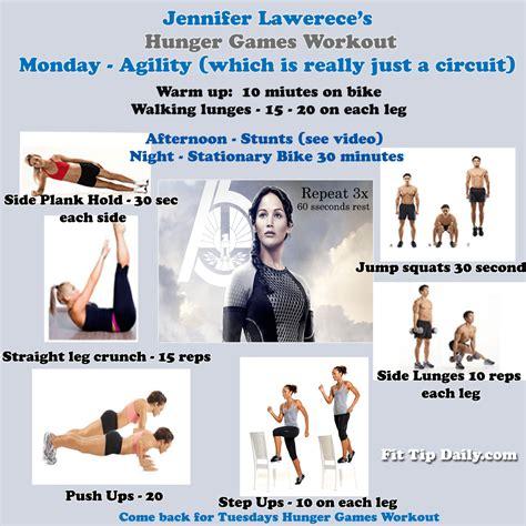 hunger games workout jennifer lawrences workout