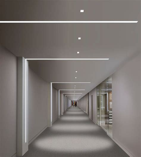 linear light fixtures hallway wall mounted modern