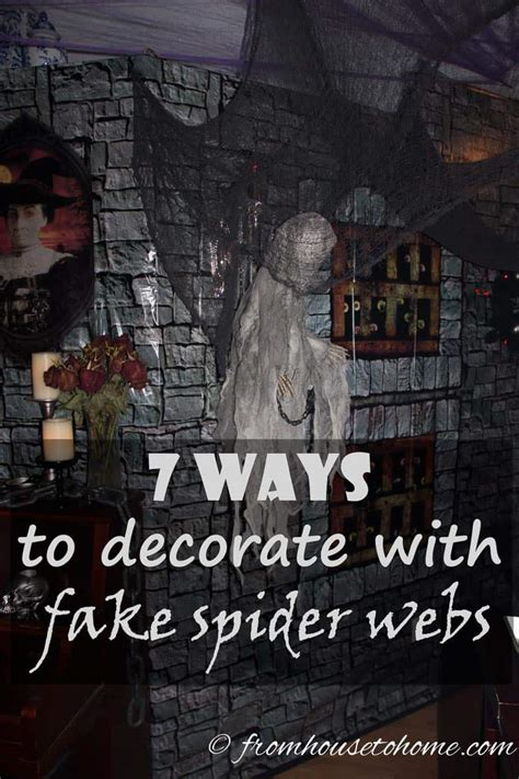 7 Ways To Decorate With Fake Spider Webs