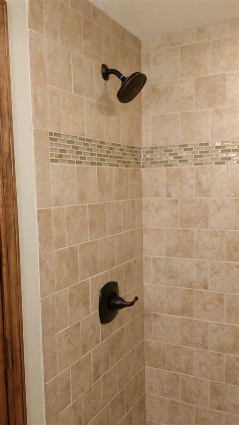 custom tile stand  shower milback construction