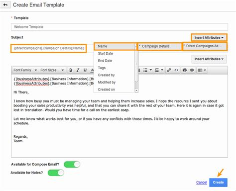 designing an email template how do i create email templates in direct caigns app apptivo faq