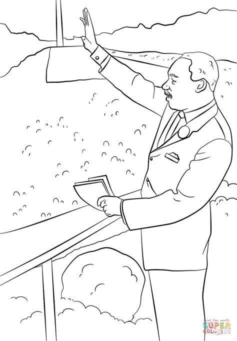 martin luther king    dream coloring page